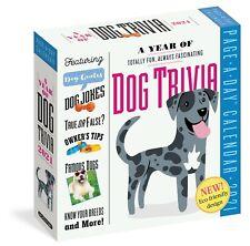 DOG TRIVIA - 2021 DAILY DESK CALENDAR - BRAND NEW - 100905