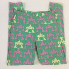 Lularoe Disney Leggings One Size OS Womens Green and Pink