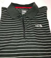 THE NORTH FACE Charcoal/White Stripe Short Sleeve Quarter Zip Shirt~Men's XL