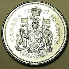 1977 CANADA Half Dollar 50 Cent Coin AU LOW MINTAGE