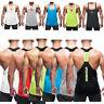 Men's Training Vest GYM T Y-back Sports Singlet Tank Muscle Tops Blouse Shirt