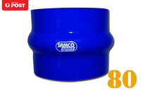"""Silicone Hose Hump Coupler Joiner 80mm 3.15"""" Blue"""