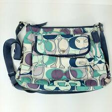 COACH 18839 Kyra Daisy Scarf Nylon Signature Crossbody Handbag Shoulder Purse