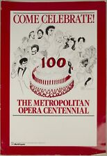 Opera 20th Century / Poster for the Metropolitan Opera Centennial featuring 11