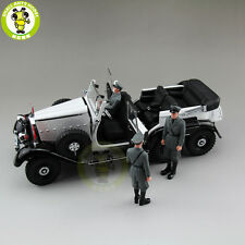 1/18 1938 Mercedes-Benz G4 WITH 3 FIGURES Diecast Model Car White