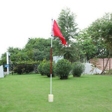 Backyard Practice Golf Hole Pole Cup Flag Stick Golf Putting Green Aid 3 Se