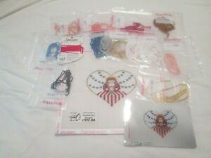 PATRIOTIC ANGEL-PAINTED PONY-HANDPAINTED NEEDLEPOINT CANVAS-STITCH GUIDE-THREADS