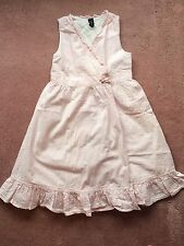 ☀️ BABY GAP Toddler Girls Sun Dress Sleeveless Lined Pink Stripes 5 Yrs 5T MINT