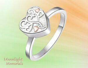 New Always in my Heart Cremation Ash Urn Memorial Keepsake Ring