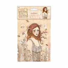 Santoro Willow Colour Me In Craft Collection - Rubber Stamps - Le Message