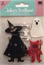 2201 JOLEE'S 3D Stickers - HALLOWEEN COSTUMES Witch, Ghost, Devil - PkgSize 6x4
