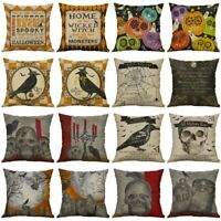 2019 Halloween Pillows Cover Fall Decor Pillow Case Sofa Throw Cushion Cover US