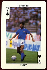 Cabrini Italy 7 Of Clubs Football Playing Card (C233)