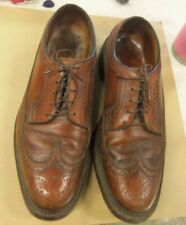 Florsheim Imperial Wingtip 5 Split Toe Lace Up Dress Shoes 9.5D, Made in USA