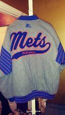 New York Mets Throwback Baseball Wool Varsity Starter Jacket Large