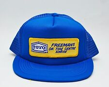 TOYO Freeman OK Tire Center Simcoe Vintage Blue Trucker Hat Mesh Snapback