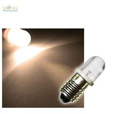E10 Lampadina LED BIANCO CALDO 12V DC LAMPADA LUCE E 10