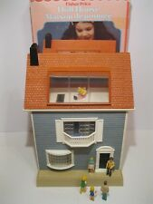 Vintage 1978 Fisher Price Doll House #250 In Box With Figures & Cutouts
