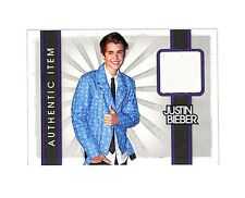 2012 Panini #14 Justin Bieber authentic event worn shirt relic card Singer