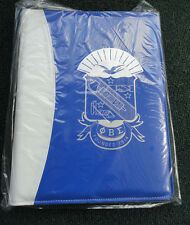 Phi Beta Sigma Vinyl Padfolio with Crest