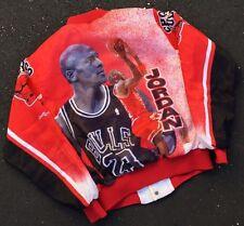 Vintage Chalk line Fanimation Michael Jordan Chicago Bulls Satin Jacket