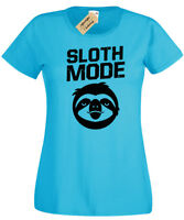 SLOTH MODE Womens T-Shirt lazy funny ladies top