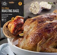 40 Large Roasting Bags 250mm x 380mm Oven Microwave Safe for Juicy Meat Chicken