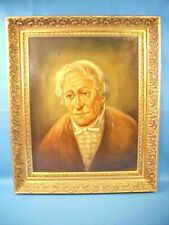 """LOVELY OLD ORIGINAL OIL PAINTING BY DUTCH ARTIST T. SERET """"PORTRAIT OF OLD WOMAN"""