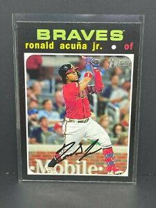 2020 Topps Heritage ACTION SP Ronald Acuna Jr #464 Variation Atlanta Braves