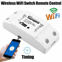 Universal Wireless WiFi Switch Light Remote Control Auto Module Timer Controller