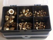 Brass Dome Nuts M4, M5, M6, M8, M10 Assorted Kit / Box 100 pcs