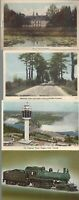 Vintage Scenic Postcards Circa 1800's-1900's Lot of 5 Trains *