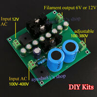 12V Tube amp / Pre-amp / Amplifier / Filament Filter Power Supply Board DIY Kits