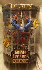 Marvel legends Icons Both Spiderman Masked And Unmasked Variant