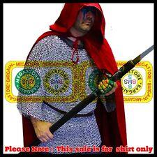 Aluminium Round Riveted Chain Mail Hauberk xxl 9m16ga Medieval Chainmail Shirt