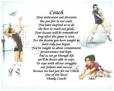 TO OUR VOLLEYBALL COACH PERSONALIZED POEM END OF THE YEAR GIFT
