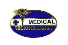 Medical Emblem Swing Arm 118 New Medical Technologist Pin Caduceus Blue Cross