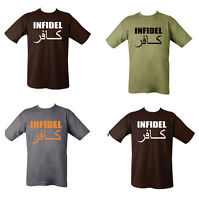 Military Army Combat Printed Taliban Hunting Club Infidel T-shirt AK-47 Black