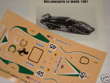 FERRARI 512 BB BELLANCAUTO LE MANS 1981  1/43 DECALS