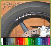 8 x SUZUKI GSR 750 Wheel Rim Stickers - choice of colour - gsr750 motorcycle