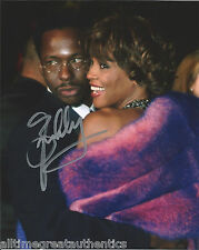 SINGER BOBBY BROWN SIGNED AUTHENTIC 8X10 PHOTO w/WHITNEY HOUSTON 1 w/COA PROOF