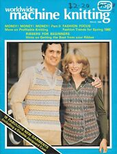 Vintage March 1980 worldwide machine knitting magazine 18 patterns ladies men