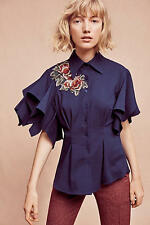 New Anthropologie Zinnia Buttondown ~ Beautiful & SOLD OUT! ~ Size XL