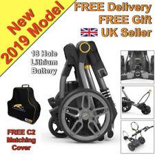 Powakaddy 2019  Compact C2i Electric Golf Trolley 18 Hole Lithium - UK Seller
