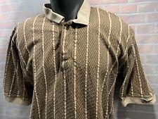 REEBOK Golf Brown Polo Men's Shirt Size L