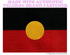 ABORIGINAL AUSTRALIA FLAG PATCH EMBROIDERED SOUVENIR w/ VELCRO® Brand Fastener