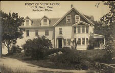 Southport ME Point of View House Real Photo Postcard