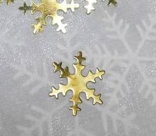 50 Streuteile Sterne gold Metall Metallsterne Weihnachten Sterne Schneeflocke