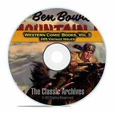 Western Comic Books, Vol 3, Bob Colt, Range Rider, Outlaws, Golden Age DVD D61