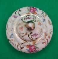 Vintage Floral Rose Porcelain Inkwell Hand Painted